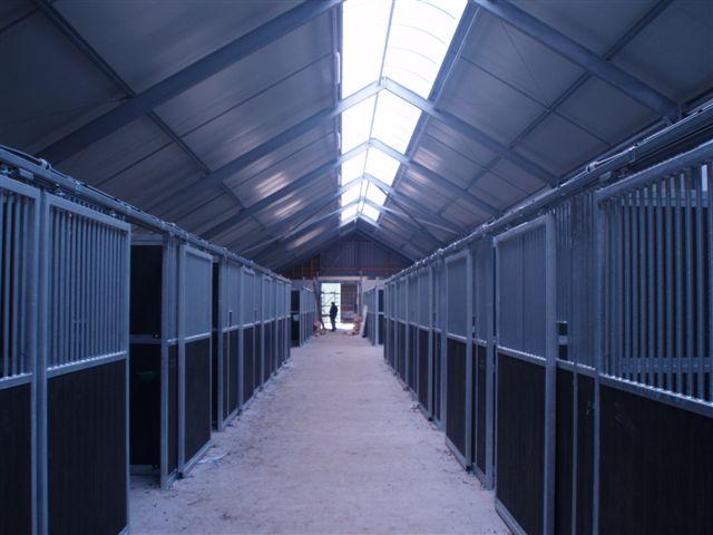 Alle stallen op een rij